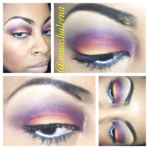 Geez, I totally forgot what products I used to create this sunset over water look. But if you have any of these colors then you can recreate this look :)