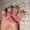 U.K Flag nails