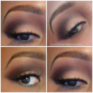 Warm Nude eyes using only the Coastal Scents Warm Palette.