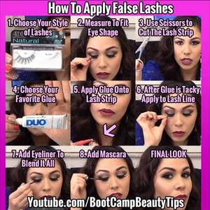 Here Are Some Little Tricks You Can Use To Apply False Eyelashes... http://youtu.be/5_iJy0x3CPs <-- Watch On Youtube
