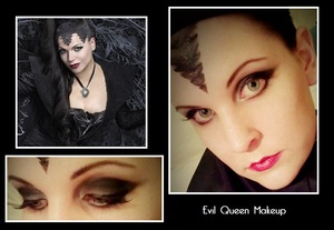 OUAT - Evil Queen. I love the show. More photos here: http://jstoddart.blog.com/2012/01/17/once-upon-a-time-evil-queen-makeup/