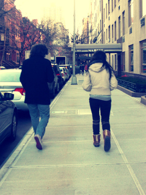 Spending the day with my brother on the streets of Manhattan.
