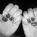 B&W nails <3