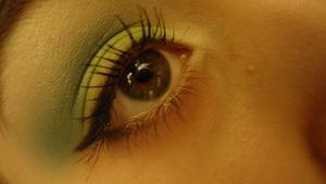lime green and blue look