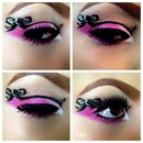bow,pink eyeshadow