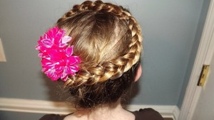 A braid I created on my little sister for different way to style her hair than an average french braid.