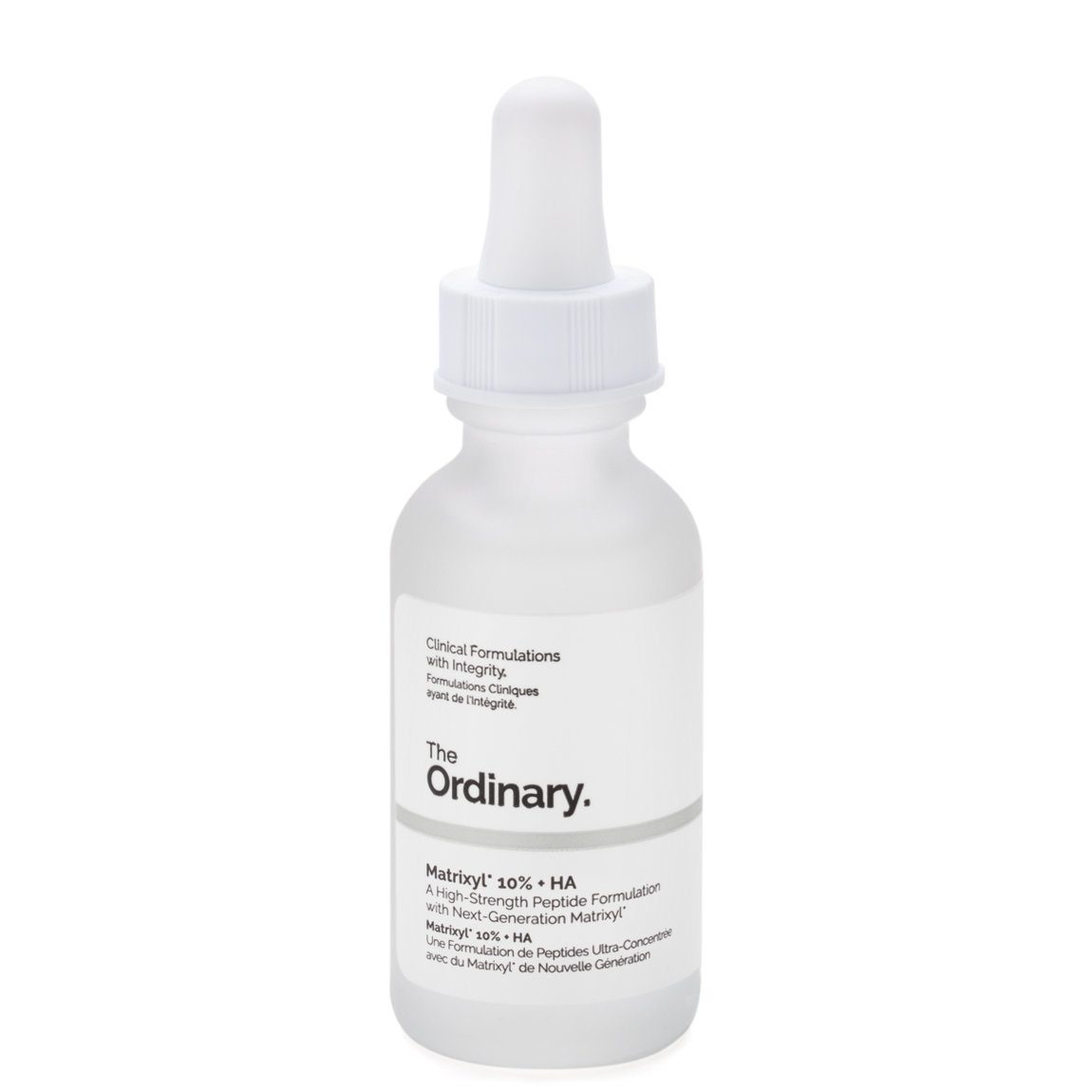 The Ordinary. Matrixyl 10% + HA product smear.
