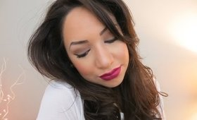 Neutral Eye & Dark Plum Lip Tutorial