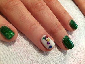 Gel Nail Polish, Nail Art, Fairy Lights, Christmas!!