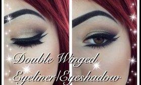 Double Winged Eyeliner/Eyeshadow Look