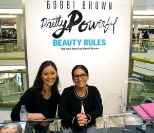 With the lovely Bobbi Brown at her San Francisco book signing.