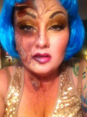 drag queen turning zombie