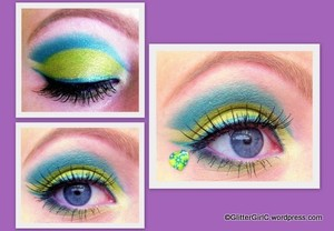 Teal and lime:)