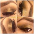 Gold smoked out look