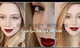 GET READY WITH ME for Fall | Simple Eyes & Bold Lip