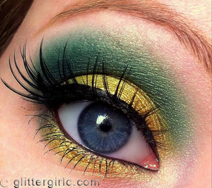 Gold and green Makeup Geek look! :) Video tutorial: http://www.youtube.com/watch?v=R9T3wCKlsnI