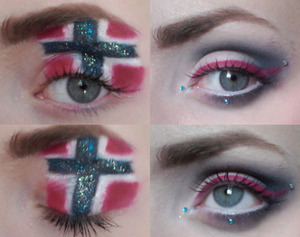 This is the final eye make up I did on both of my eyes on May seventeenth.