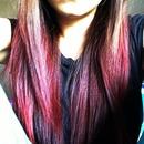 Red dip dyed hair