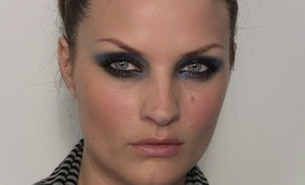 TREND: Zac Posen - Blue crease smokey eyes tutorial