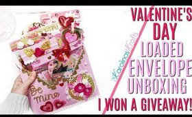 Giveaway Winnings UNBOXING from Solocraftz, Loaded Envelope Valentines Day Embellishment Ideas