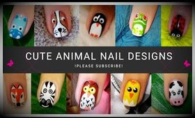 Cute Animal Nail Art Compilation | 11 Design Ideas ♥