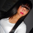 Bangs, black hair