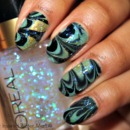 Wintery Water Marble