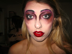 Largely influenced by Illamasqua's Theatre of the Nameless collection. Rocky Horror Picture Show event makeup