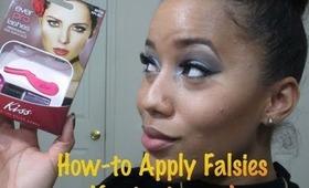 How to EASILY Apply False Eyelashes ft. Kiss Ever PRO Lash Starter Kit