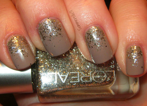 Color Club High Society and L'oreal Sparklicious