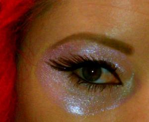 Yet another theme day at MAC. I used Kitchmas pigment wet and #34 lashes