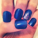 Blue with some silver glitter