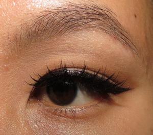 Winged eyeliner using MUFE Aqua Liner. http://portraitofmai.blogspot.com/2012/04/back-to-winged-basics-eotd.html