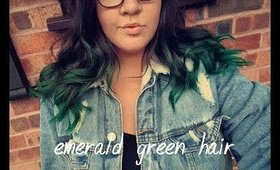 emerald green hair • MEG UP •