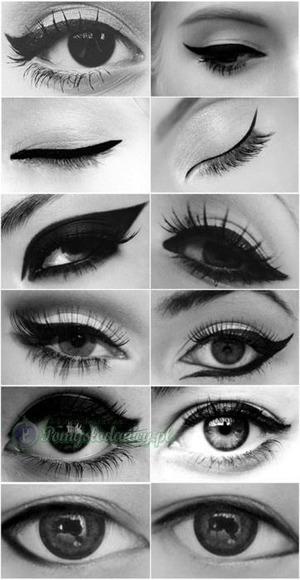 Different ways to wear eyeliner :)