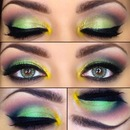 St Patricks Day eye look