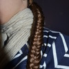 my hair, Fish tail braid