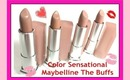 Maybelline ColorSensational The Buffs Lip Color Swatches & Review