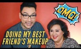 Best Foundation for Textured Skin - Doing My Best Friend's Makeup Part 1 | mathias4makeup