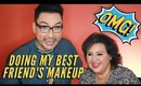 Best Foundation for Textured Skin - Doing My Best Friend's Makeup Part 1   mathias4makeup