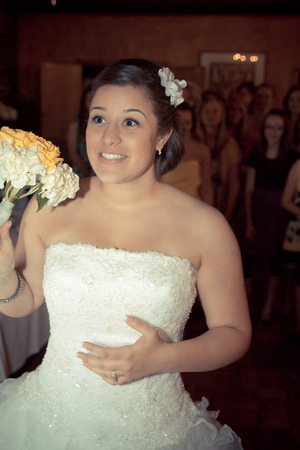 Throwing the bouquet!