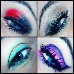 some of my favorite & most recent eyelooks (jan/feb 2014). practice makes perfect, right? ;)