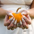 My beautiful stiletto Wedding nails