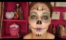 Halloween Tutorial - Sugar skull!