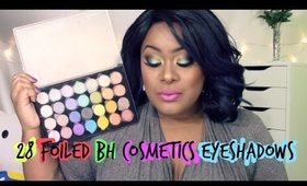 28 FOILED Eyeshadows BH Cosmetics Swatches