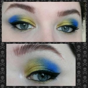I used makeup geek shima shima , pixie dust, peacock and Neptune
