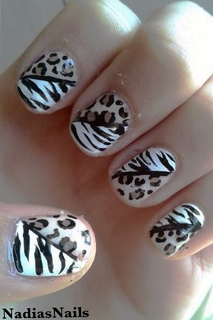 A combination of Zebra and Leopard print design.