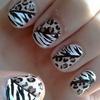 Leopard and Zebra Print Nail Art