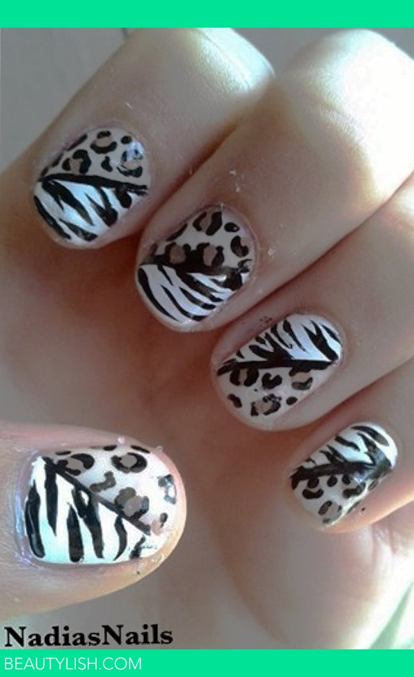 Leopard and Zebra Print Nail Art | Nadia S 's Photo | Beautylish