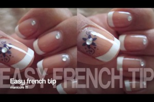 Hey guys check out my easy French tip nail tutorial !!!💅💗💜💗💜💗